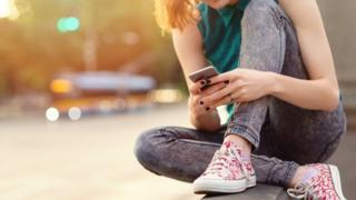 Girl using a phone
