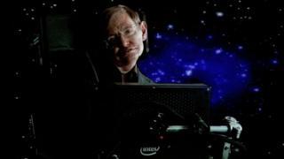 Stephen Hawking speaks at the Langham Hotel on January 14, 2010 in Pasadena, California.