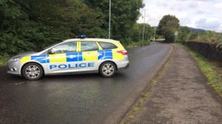 Police car on Renton Road