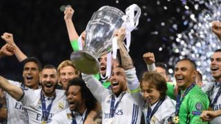 """Мадриддик """"Реал"""" футбол командасы Чемпиондор лигасынын финалында туриндик """"Ювентусту"""" 4:1 эсебинде утуп алды."""