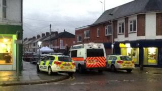 Police on the scene at Freeman Road North