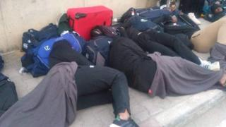 Zimbabwe players asleep on the streets