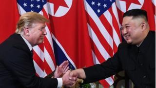 کیم جونگ اون، رهبر کره شمالی و دونالد ترامپ، رئیس جمهور آمریکا