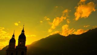 Alpes austriacos en Innsbruck.