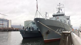 Nato ships in Belfast