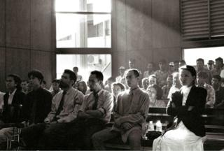 Ging Ginanjar in court under Suharto regime