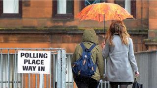 polling station rain