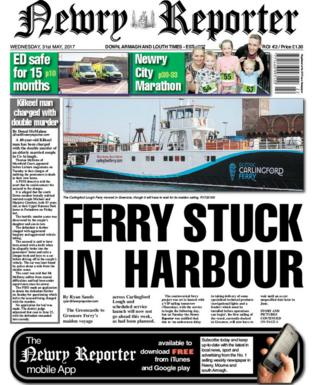 Newry Reporter front page Wednesday 31 May