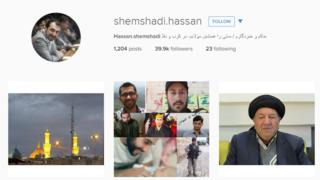 Hassan Shemshadi's popular Instagram feed includes photos of fighters battling Islamic State