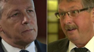 Peter Robinson and Sammy Wilson