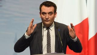 French far-right National Front party Vice-President Florian Philippot delivers a speech during a campaign rally for the presidential election Marine Le Pen on 18 March 2017 in Metz, eastern France