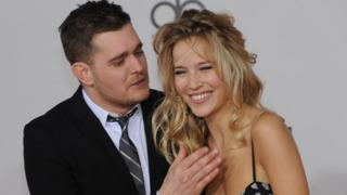 Michael Buble and his wife Luisana