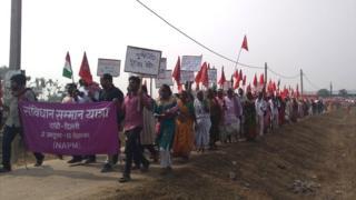 अररिया में किसानों का मार्च