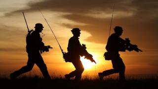 Британские солдаты в дозоре