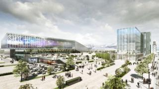 Artist's impression of the Scottish Event Campus expansion plans