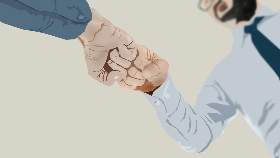 science Fist bump