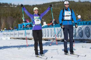 Пиппа Миддлтон на лыжной гонке в Норвегии