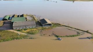 Flooding around Henry Ward's farm