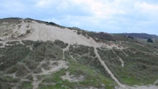 Sand dunes at St Brelade