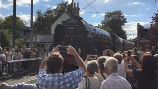 Tornado steam locomotive at Frinton-on-Sea