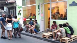Clientes do Kiwi Cafe