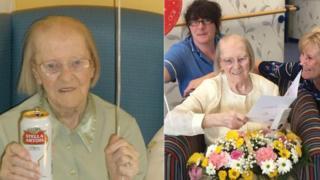 100'üncü yaşını kutlayan Eileen Maher