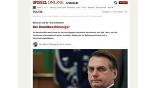 Site da revista alemã Der Spiegel