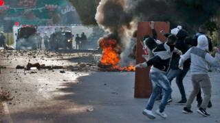 Enfretamientos en la ciudad de Nablus.