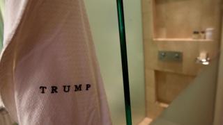 Bathrobe with Trump logo