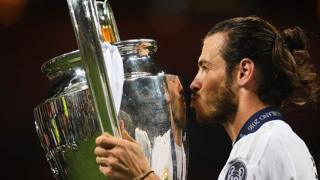 Gareth Bale and Champions League trophy