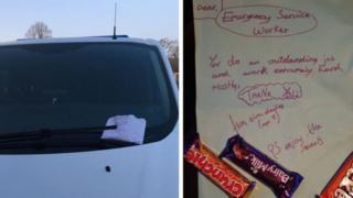 Note left on van