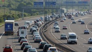 Traffic on the M5 near Bristol
