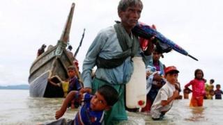 Myanmarjan qochayotgan Rohingalar