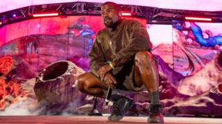 Kanye performing at Coachella