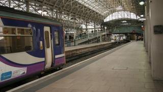 Northern train in Manchester Piccadilly