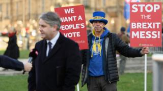 Anti-Brexit protester Steve Bray crashed multiple BBC news reports