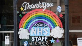 A sign reads 'thank you NHS staff'