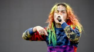 Tekashi 6ix9ine performing on the Rocky Stage during the 2018 Made In America Festival