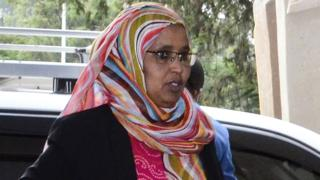 Aisha Mohammed, Ethiopia's new defence minister, arrives in Addis Ababa on 16 October 2018