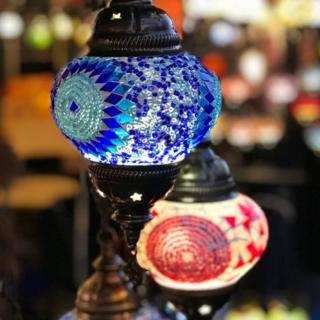 Lanterns at Edinburgh Christmas market