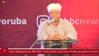 Aworan ipade itagbangba BBC Yoruba