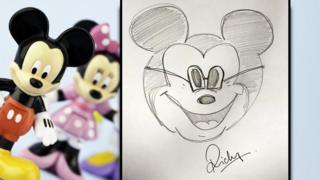 Ricky's drawing of Mickey