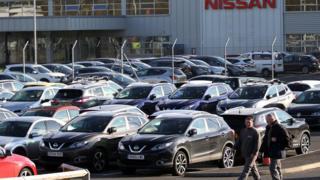Nissan car plant in Sunderland
