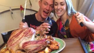 Kirsten Shore with husband Dan