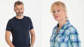 Hugh Dennis and Claire Skinner