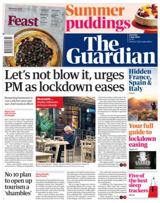 The Guardian front page 04.07.20