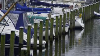 Hollanda'nın kuzeyindeki Urk kasabasında balıkçı tekneleri