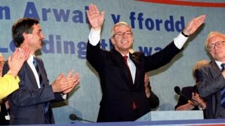 John Major at Welsh Conservative conference in Llangollen in 1993