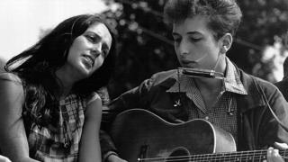 Joan Baez and Bob Dylan in 1963