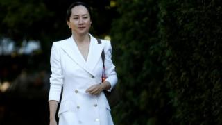 Meng Wanzhou leaves her home to appear in British Columbia supreme court for a hearing, in Vancouver, British Columbia